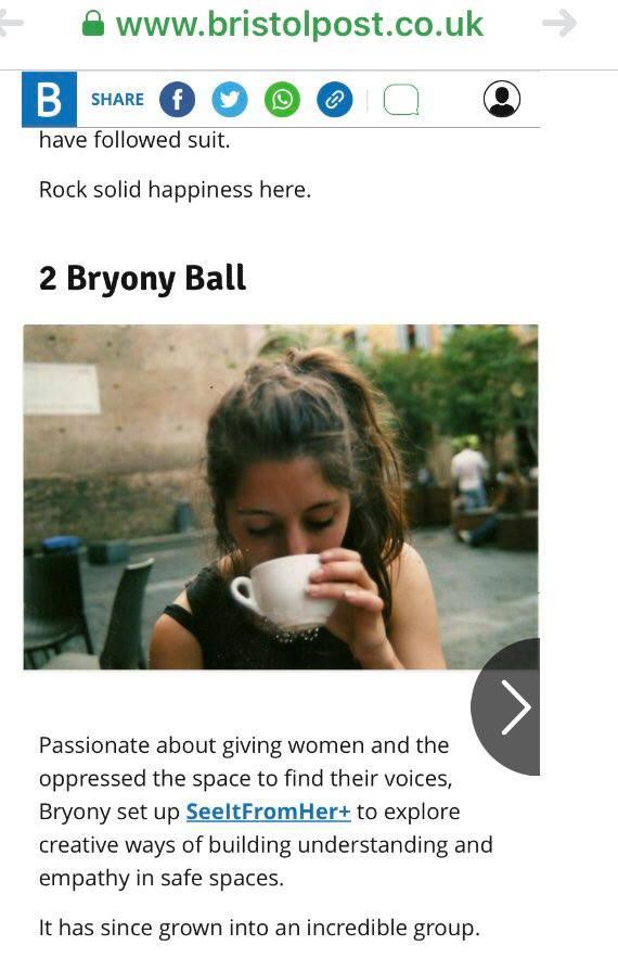 Founder Bryony Ball chosen for Bristol Happy List 2017