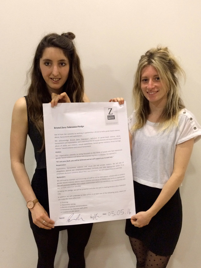 SIFH sign up to Bristol Zero Tolerance