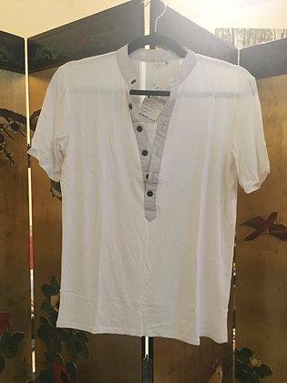 Men's White Collerless Shirt