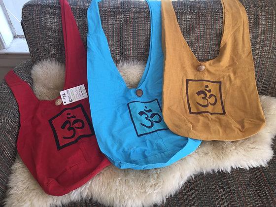 OM Monk Sling Shoulder Bag with Button