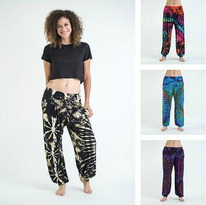 Women's Tie Dye Spandex Cotton Harem Pants
