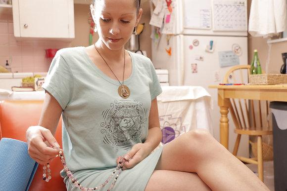 Organic Om Mandala Cotton Jersey Dress