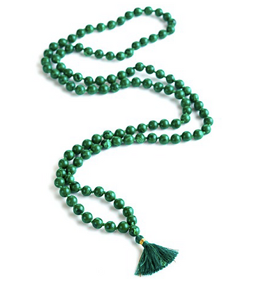 Malachite Gemstone Mala