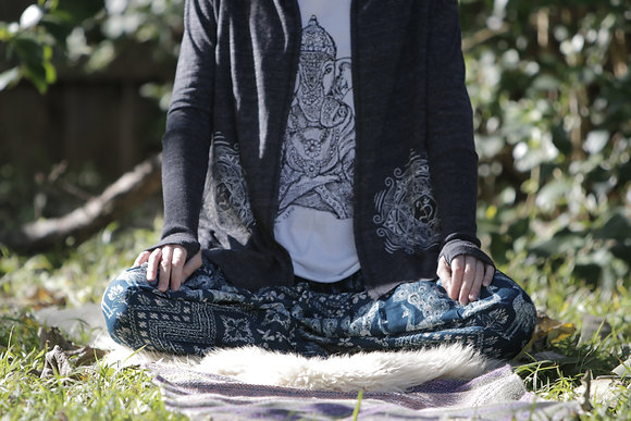 Organic Om Mandala Thumbs Up Jersey Wrap