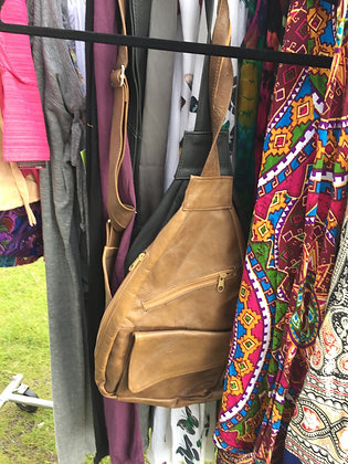 Leather Cross-Body Sling Bag