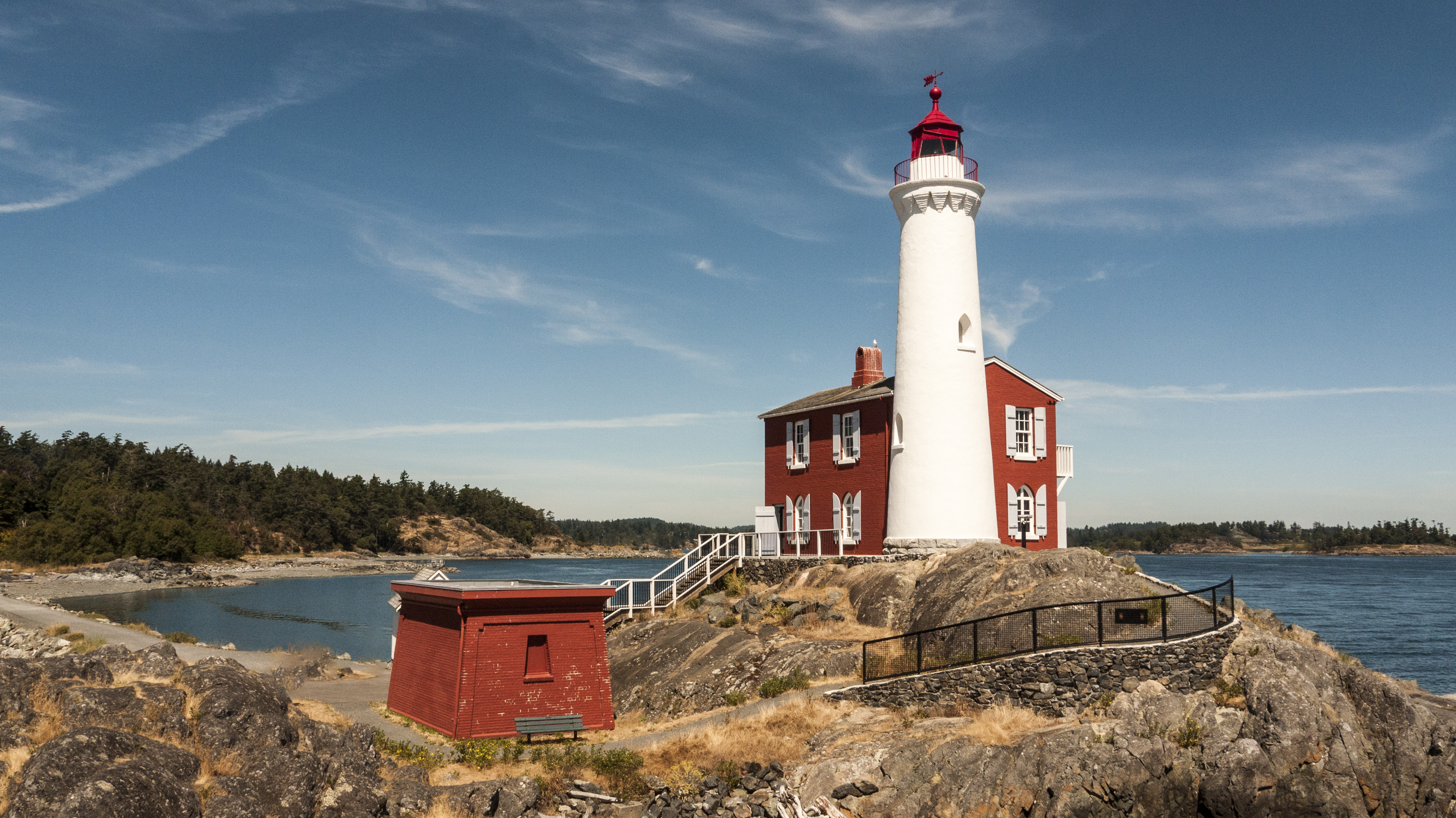 Fisgaard Light House in the summer