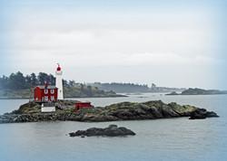 Fisgard Lighthouse in the winter