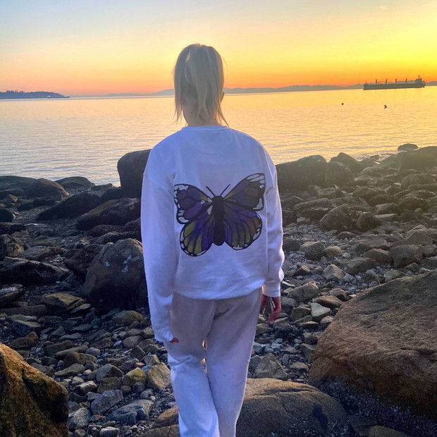 Butterfly Crew Neck