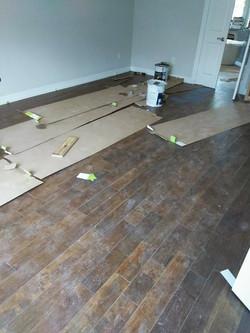 Wood floor installation Kingwood