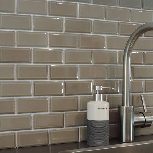 "Taupe Bright 2""x 4"" Brick Beveled"