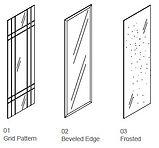 glass insert - tempered - grid pattern.J