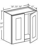 wall cabinets 18 - 21 high double door n