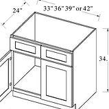 sink base double door 2 dummy drawers.JP