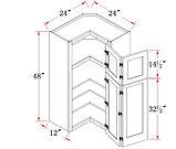 48 high Pie Cut Corner Wall Cabinet.JPG