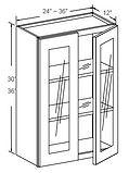 wall cabinet glass insert door 30 - 36 d