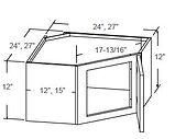 wall diagonal corner glass insert door 1
