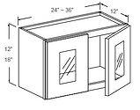 wall cabinets glass insert door 12 - 18