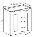wall cabinets 24 - 27 high double door 1