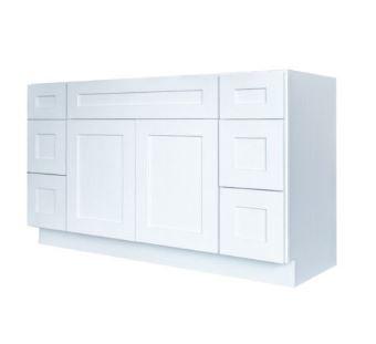 Elegant White Single Sink Vanity With Dr