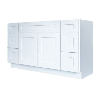 Elegant White Single Sink Vanity With Dr