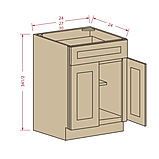 Kitchen double-door-single-drawer-face-s