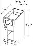 base cabinets single drawer single door.