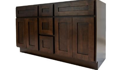 Espresso Shaker Double Sink Cabinet With