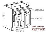 vanity sink single door with drawer on l