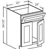 Sink base double door titl out drawer.JP