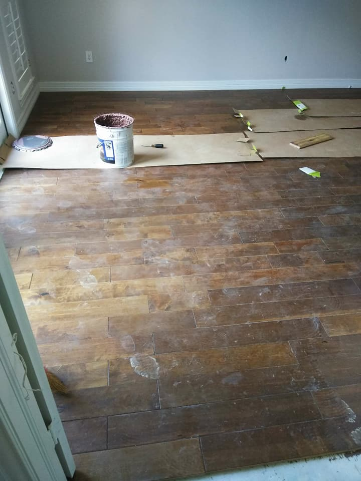 Wood Floor installation in Kingwood