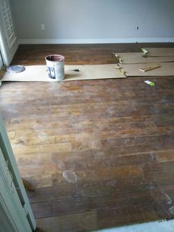 Wood Floor installation in Kingwood