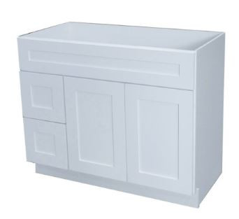 Elegant White Vanity Cabinet with Drawer