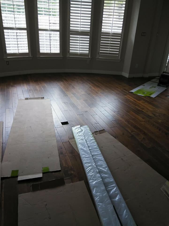 Wood floor installation Kingwood