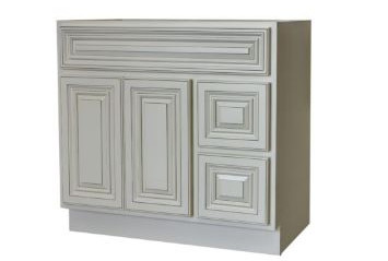 Antique White Vanity Cabinet With Drawer