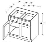 base cabinet double drawers double doors
