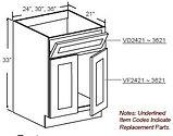 vanity sink double door 1 tilt out drawe