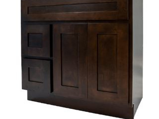 Espresso Shaker Vanity Cabinet with Draw
