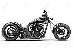20940785-custom-black-motorcycle-on-a-wh