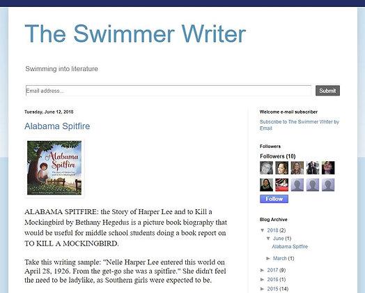 The Swimmer Writer (Amadei, Deborah Lisa)