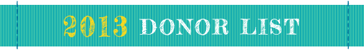 SHCF 2013 Donor List
