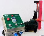 Lixadeira equipada com motor trifásico e painel de comando para 3 equipamentos
