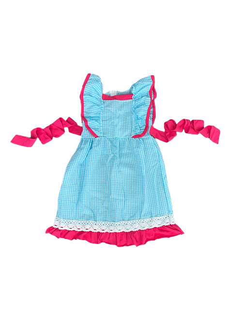 Blue Gingham Ruffle