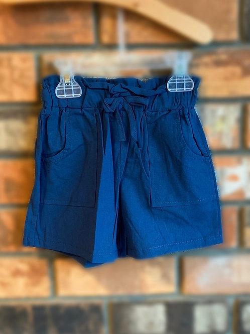 Navy Bow-Tie Shorts