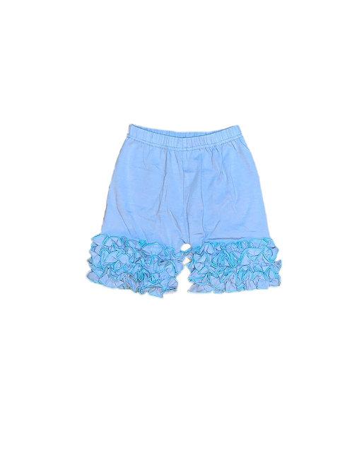Icing Ruffle Shorts- Baby Blue