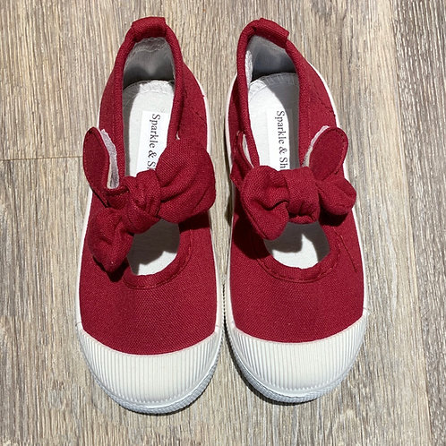 Bow-Knot Shoes- Red Wine