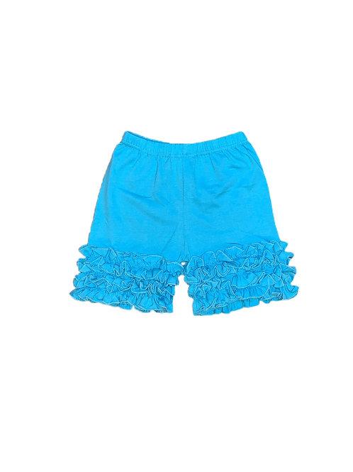 Icing Ruffle Shorts- Sky  Blue