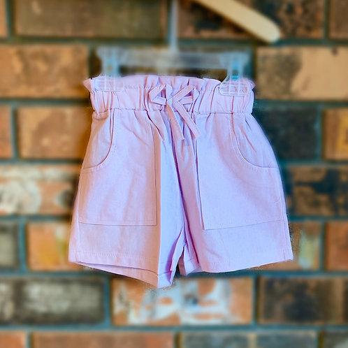 Lavender Bow-Tie Shorts
