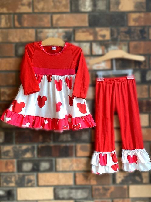 Minnie & Hearts 2pc Pant Set