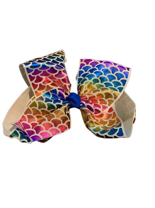 Colorful Mermaid Bow