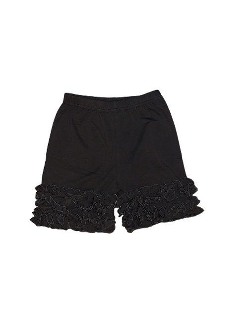Icing Ruffle Shorts-Black